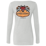 Speed Demon Ladies Long Sleeve Scoop Neck T-Shirt