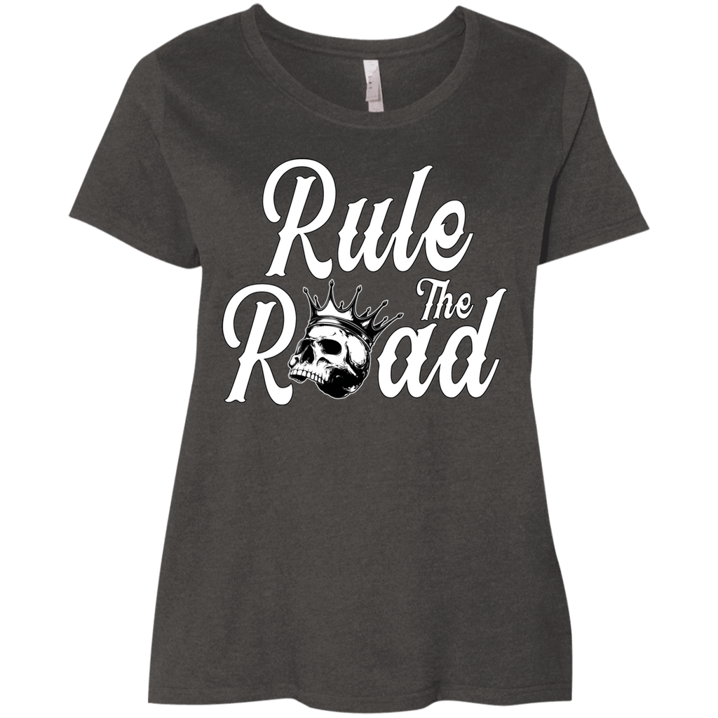 Rule The Road OG Logo Ladies Curvy Plus Size Short Sleeve T-Shirt