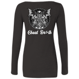 Cheat Death Ladies Long Sleeve Scoop Neck T-Shirt