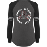 Loud Pipes Save Lives Bobber Ladies Game Long Sleeve V-Neck T-Shirt