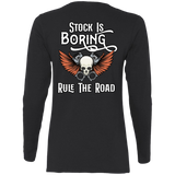 Stock Is Boring Ladies Long Sleeve T-Shirt