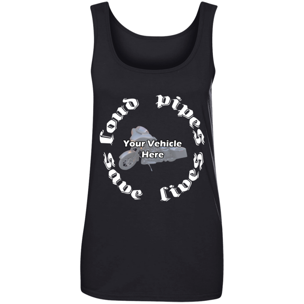 Loud Pipes Save Lives Personalized Women's Scoopneck Tank Top