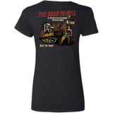 The Road To Hell Motorcycle Ladies V-Neck T-Shirt