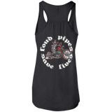 Loud Pipes Save Lives Bobber Ladies Flowy Racerback Tank