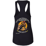 Lean Into It Ladies Ideal Racerback Tank Top