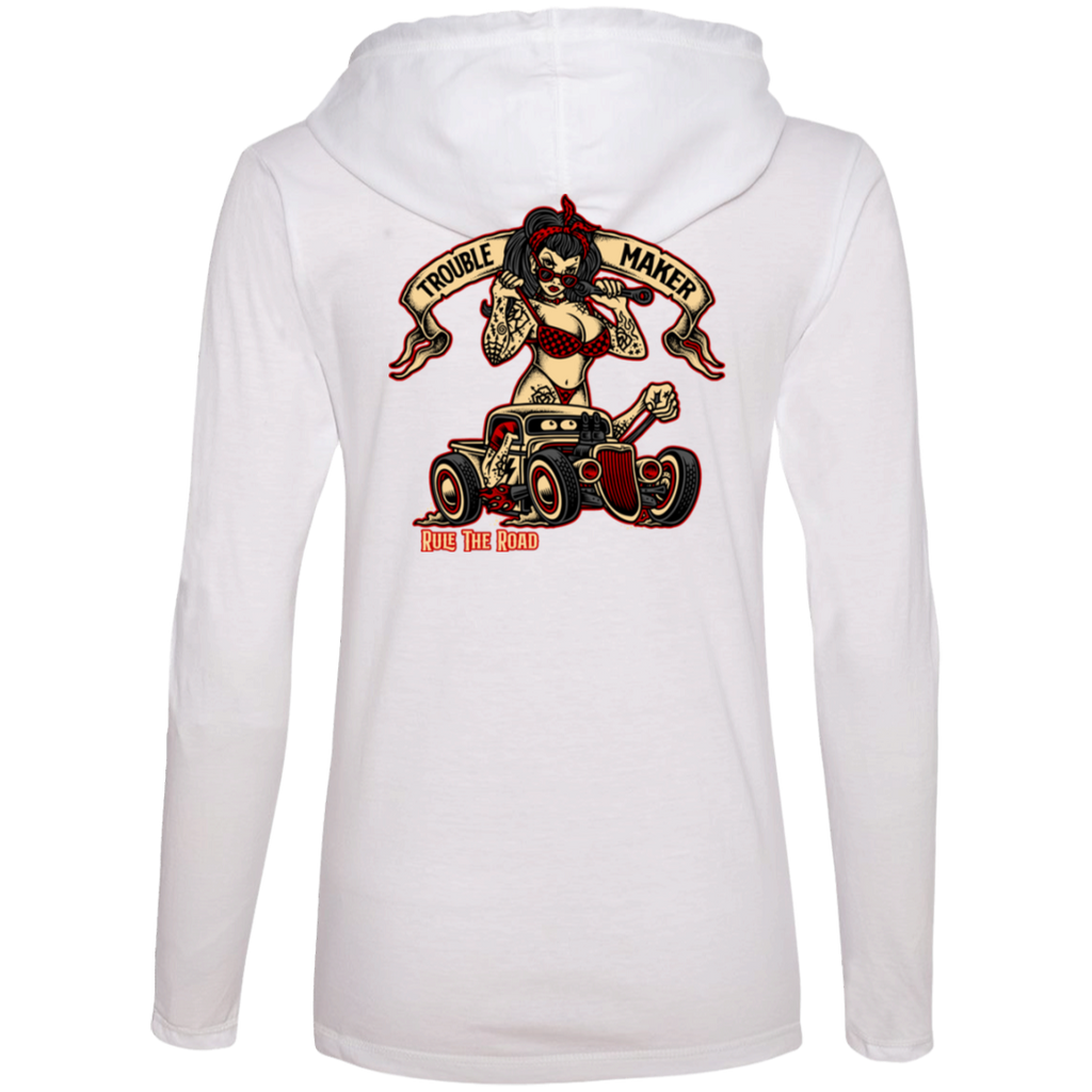 Troublemaker Hot Rod Ladies Long Sleeve T-Shirt Hoodie