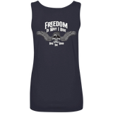 Freedom Is Why I Ride Ladies Scoopneck Tank Top