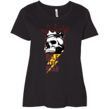 Skull Logo Ladies Curvy Plus Size Short Sleeve T-Shirt