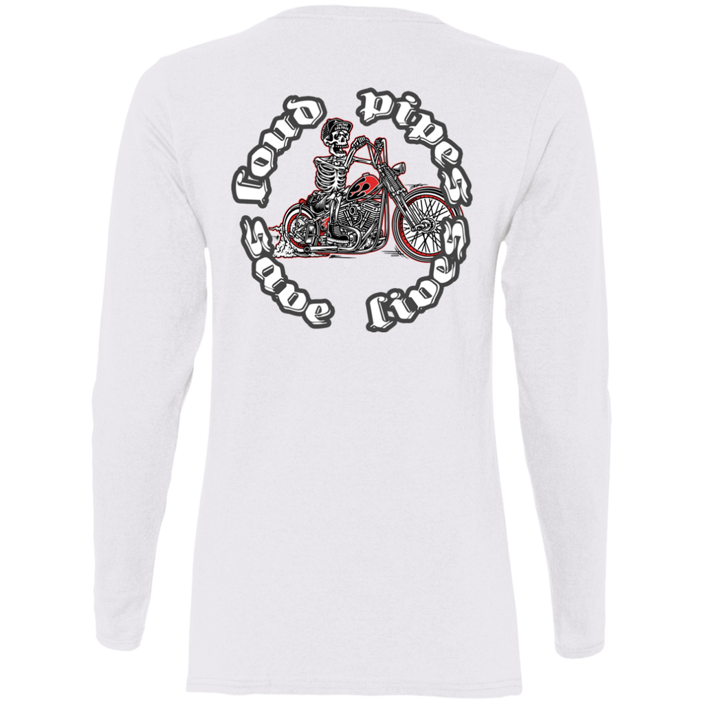 Loud Pipes Save Lives Bobber Ladies Long Sleeve T-Shirt
