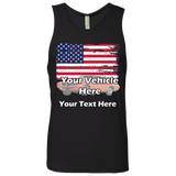 American Flag Personalized Men's Tank Top