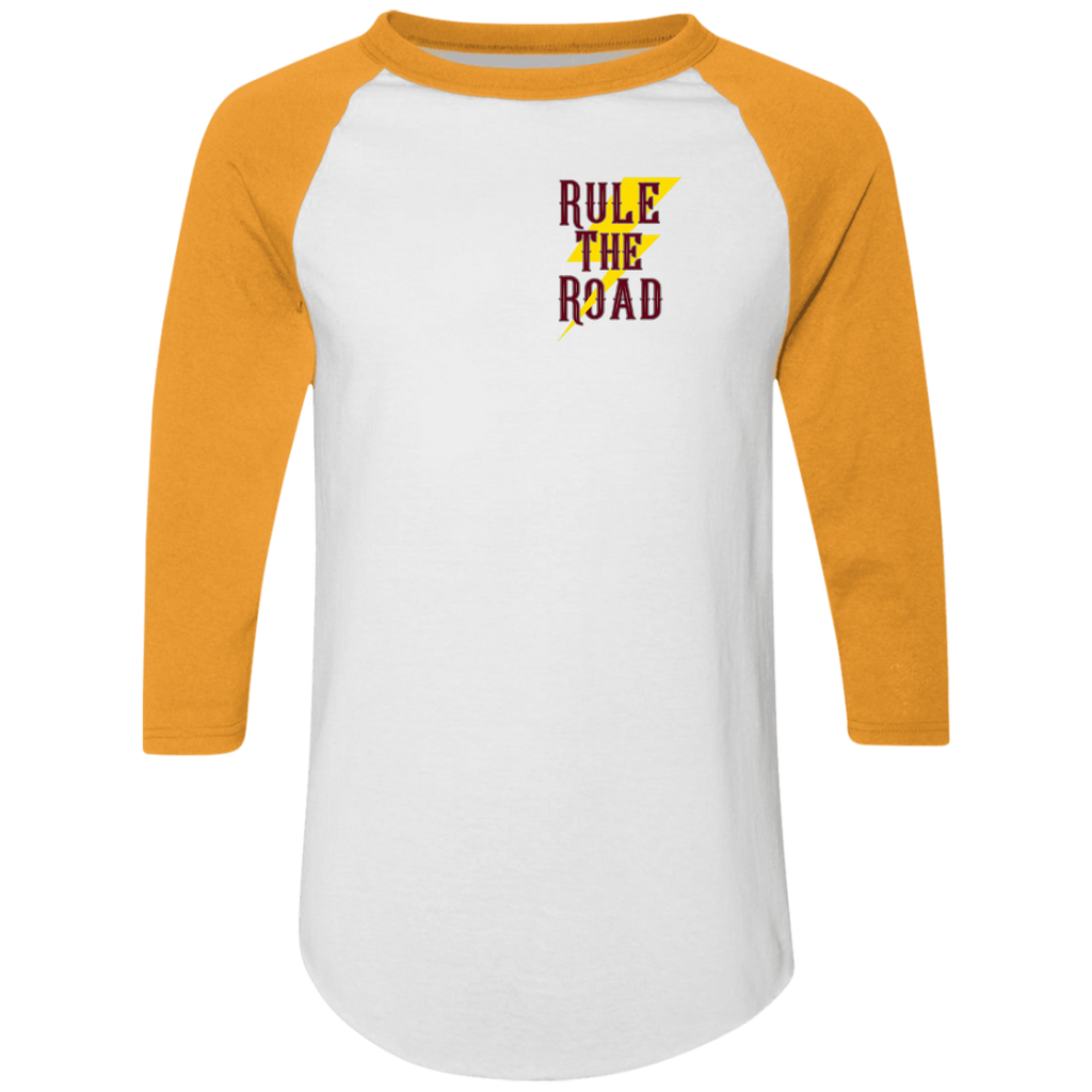 The Road To Hell Hot Rod Mens 3/4 Sleeve Raglan Jersey