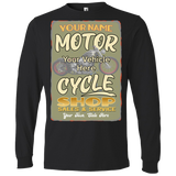 Motorcycle Shop Personalized Men's Long Sleeve T-Shirt