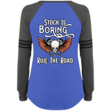 Stock Is Boring Ladies Game Long Sleeve V-Neck T-Shirt