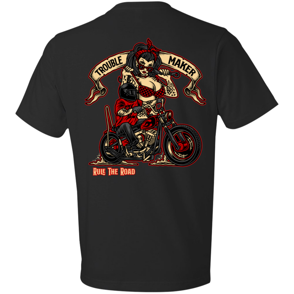 Troublemaker Motorcycle Short Sleeve T-Shirt