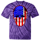 USA Skull Tie Dye Short Sleeve T-Shirt
