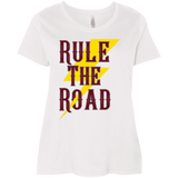 RTR Classic Style Logo Ladies Curvy Plus Size Short Sleeve T-Shirt