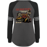 The Road To Hell Hot Rod Ladies Game Long Sleeve V-Neck T-Shirt
