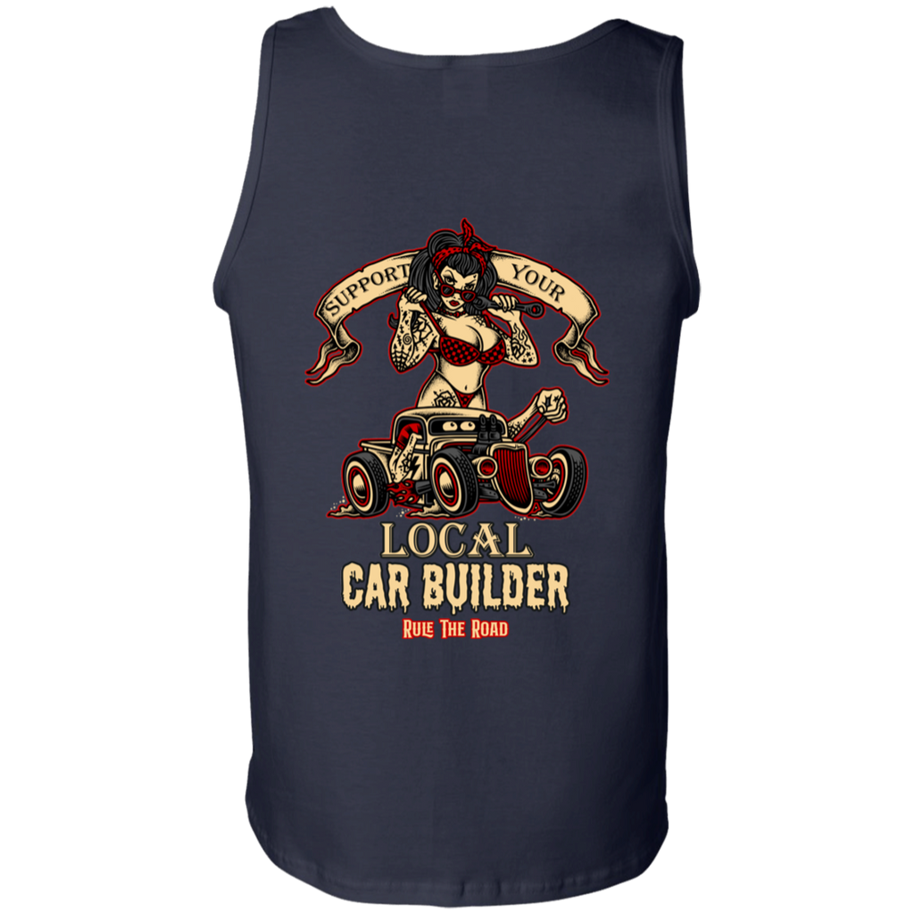 Support Your Local Car Builder Mens Tank Top
