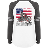 American Iron Ladies Game Long Sleeve V-Neck T-Shirt