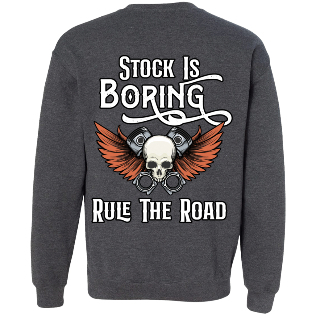 Stock Is Boring Pullover Crewneck Sweatshirt