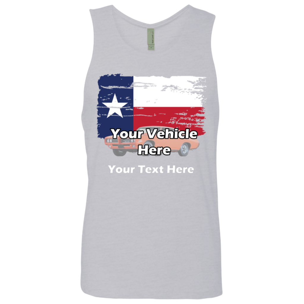 Texas Flag Personalized Men's Tank Top