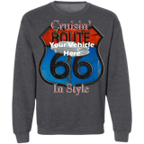 Cruisin' Route 66 Personalized Crewneck Sweatshirt