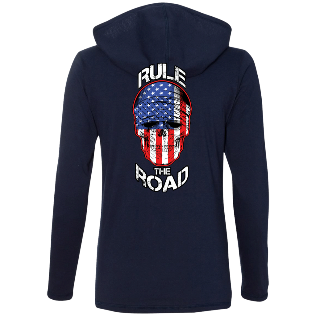 American Skull Ladies Long Sleeve T-Shirt Hoodie