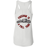Freedom Is A Full Tank Hot Rod Ladies Flowy Racerback Tank