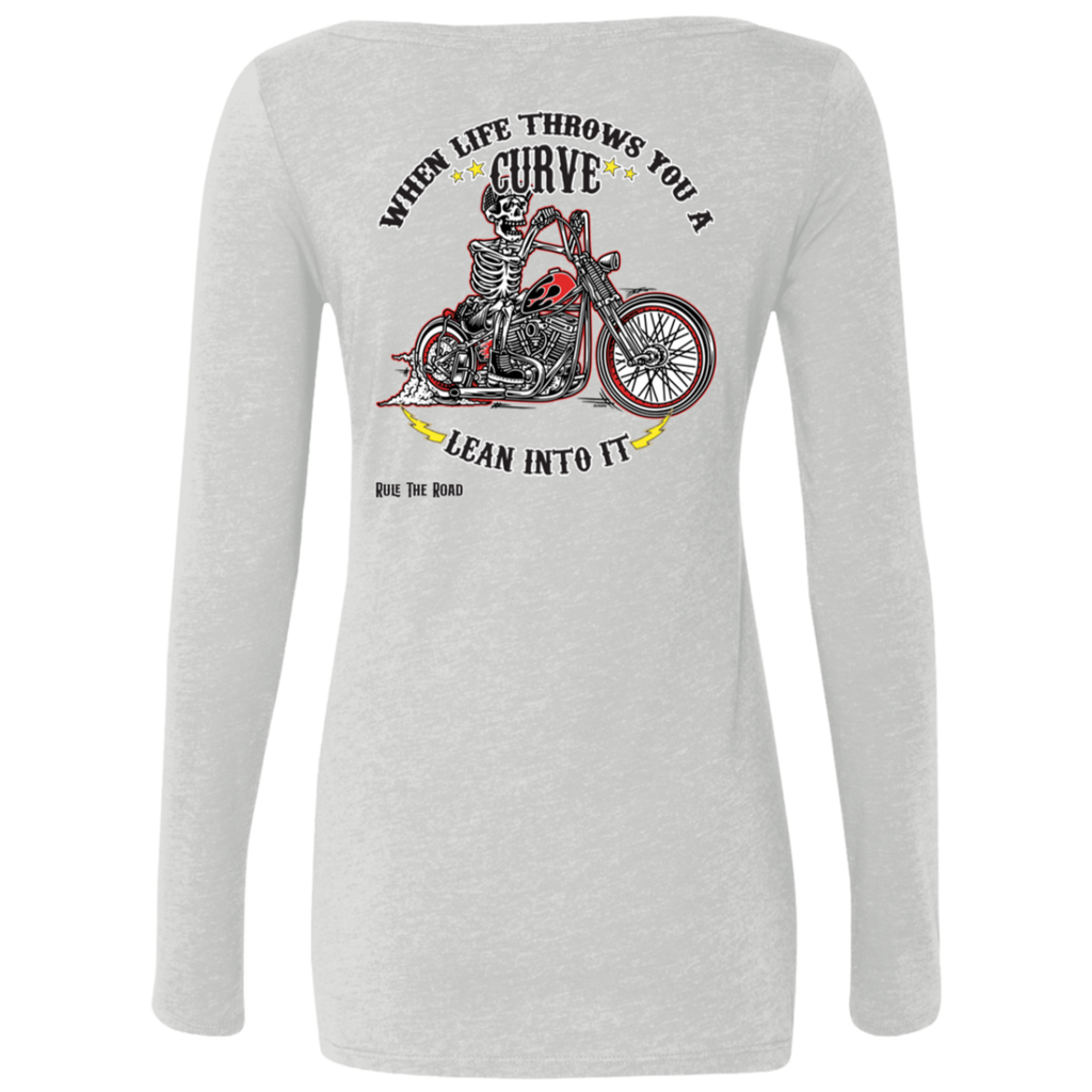 When Life Throws You A Curve Ladies Long Sleeve Scoop Neck T-Shirt