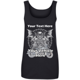 Grim Reaper Personalized Women's Scoopneck Tank Top