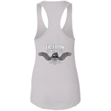 Freedom Is Why I Ride Ladies Ideal Racerback Tank Top