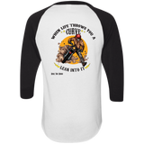 Lean Into It Mens 3/4 Sleeve Raglan Jersey