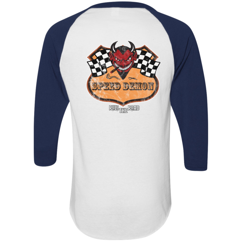 Speed Demon Mens 3/4 Sleeve Raglan Jersey