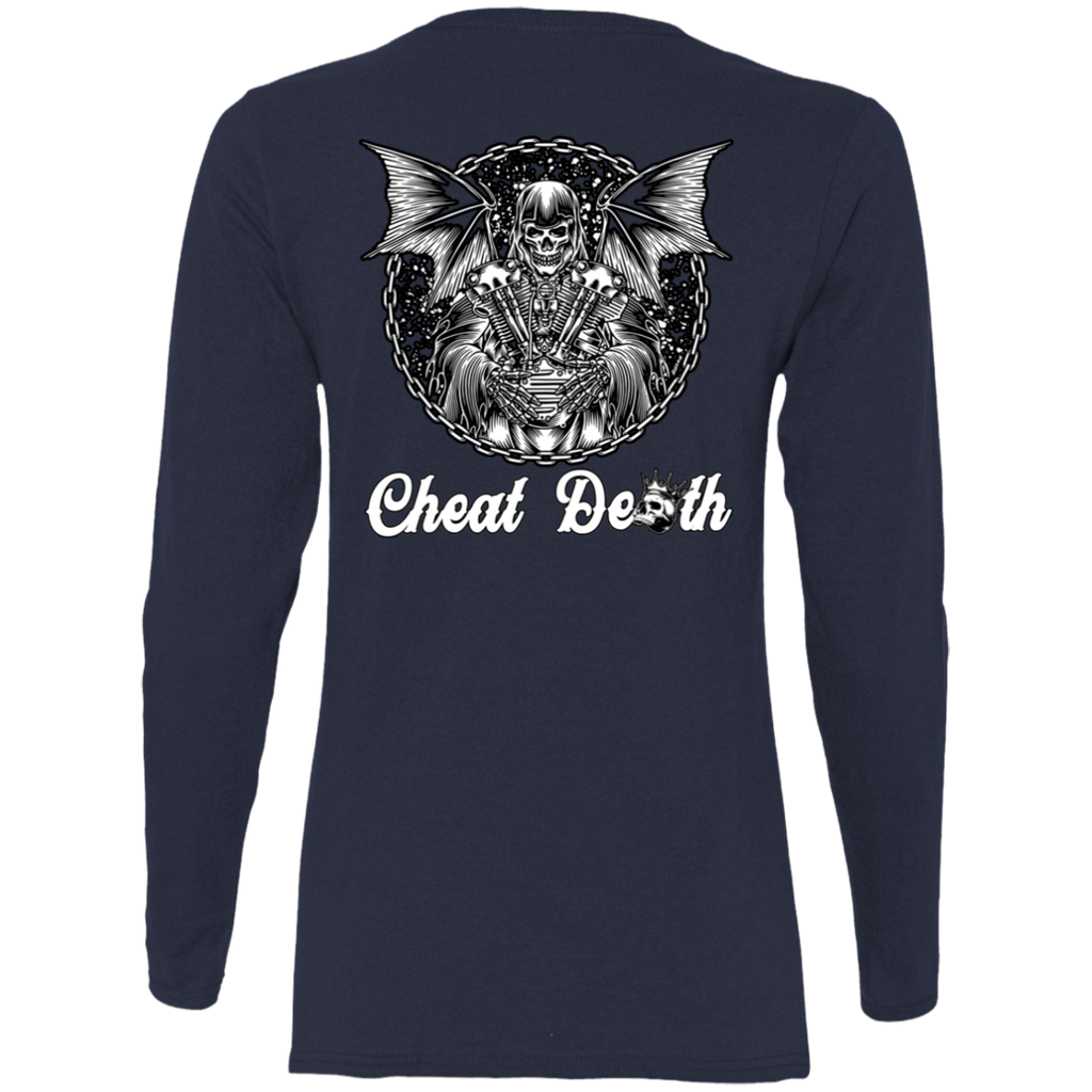 Cheat Death Ladies Long Sleeve T-Shirt