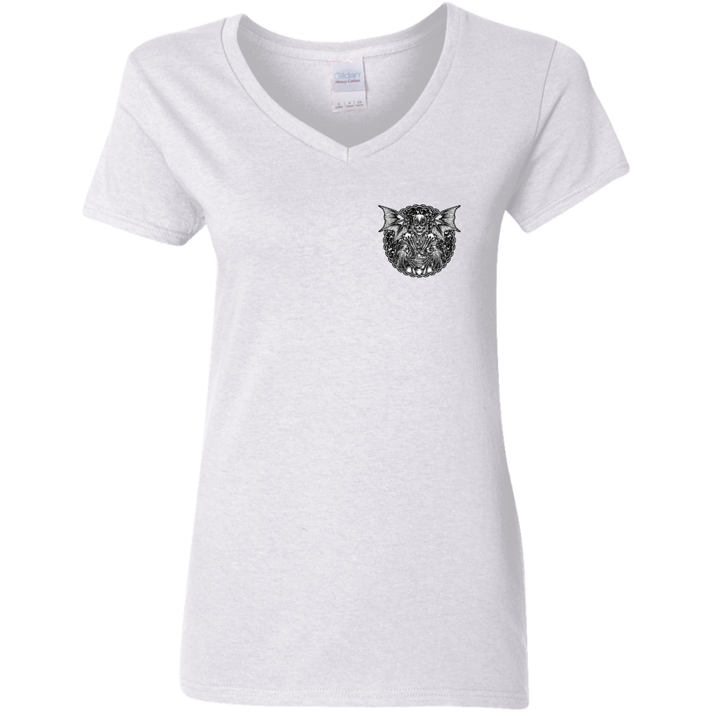 Grim Reaper Ladies V-Neck T-Shirt