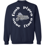Loud Pipes Save Lives Personalized Crewneck Sweatshirt