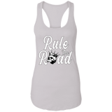 Rule The Road OG Logo Ladies Ideal Racerback Tank Top