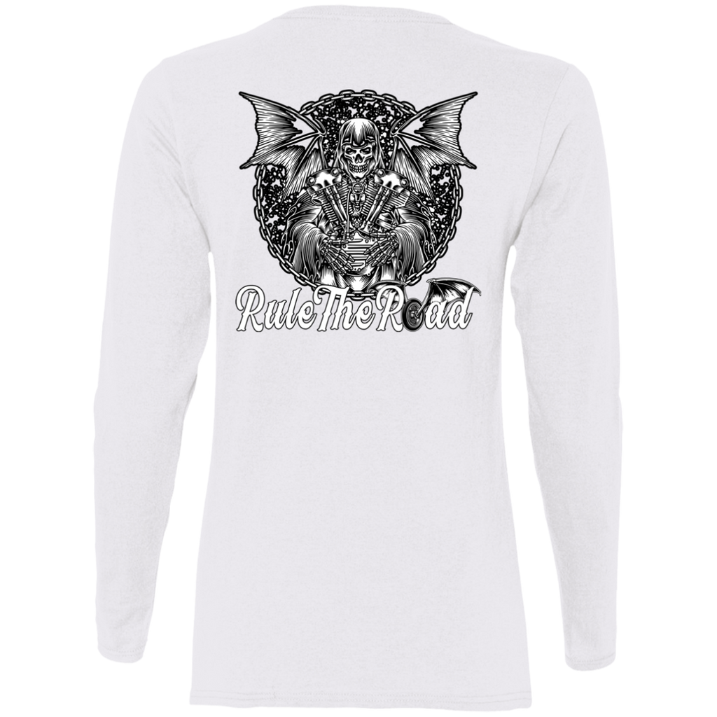 Grim Reaper Ladies Long Sleeve T-Shirt