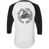 Loud Pipes Save Lives Bobber Mens 3/4 Sleeve Raglan Jersey