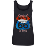 Cruisin' Route 66 Personalized Women's Scoopneck Tank Top