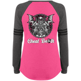 Cheat Death Ladies Game Long Sleeve V-Neck T-Shirt