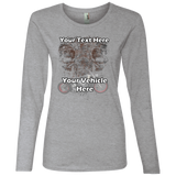Skulls Personalized Women's Long Sleeve T-Shirt