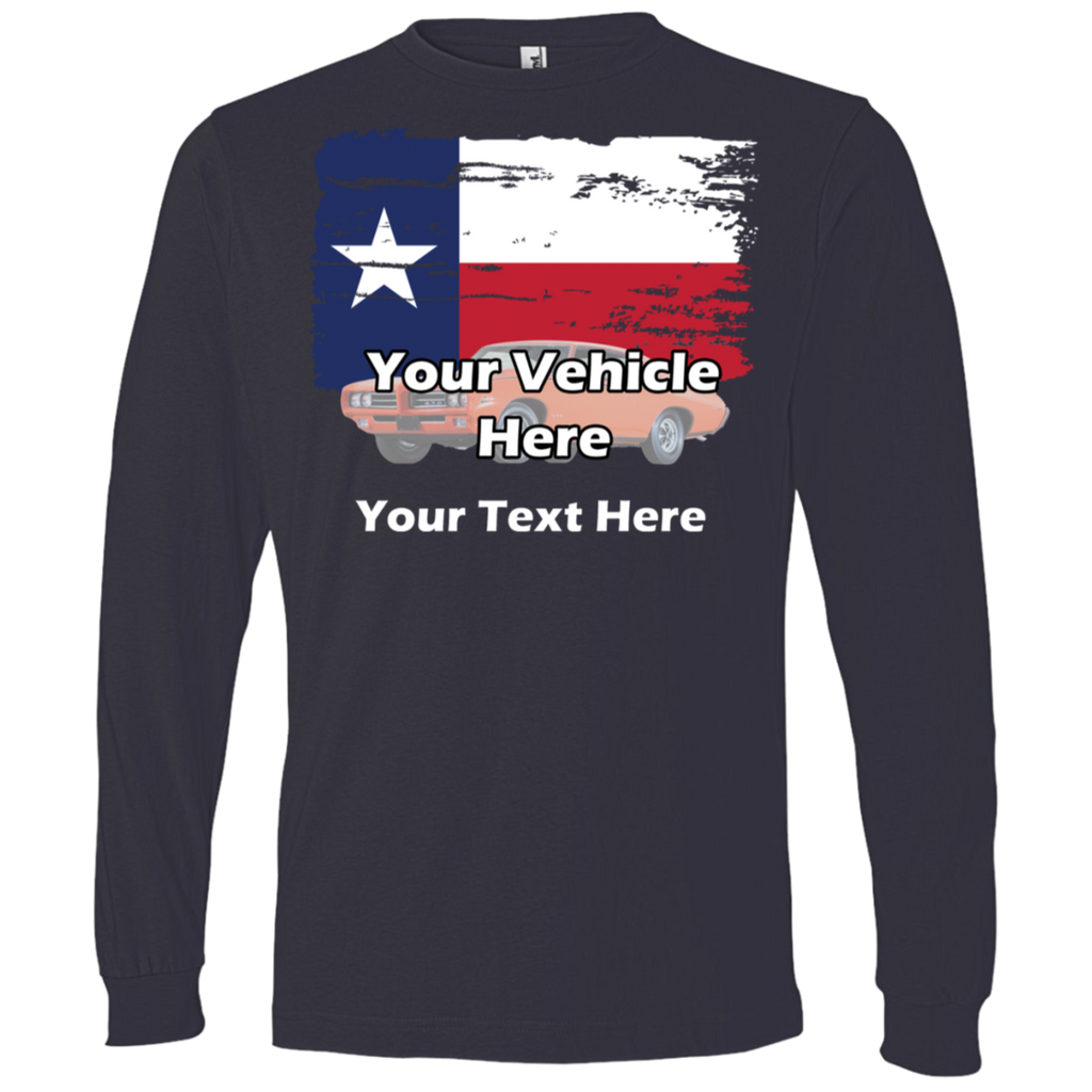 Texas Flag Personalized Men's Long Sleeve T-Shirt