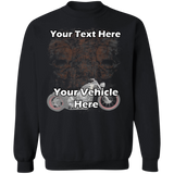 Skulls Personalized Crewneck Sweatshirt