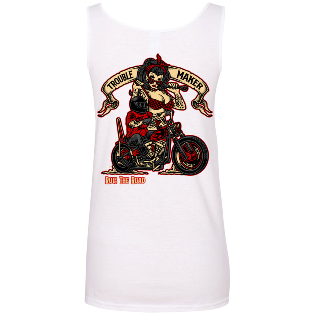Troublemaker Motorcycle Ladies Scoopneck Tank Top