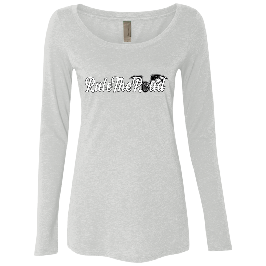 RTR Winged Wheel Logo Ladies Long Sleeve Scoop Neck T-Shirt