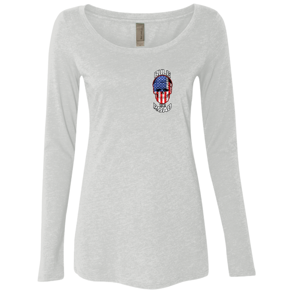 American Skull Ladies Long Sleeve Scoop Neck T-Shirt