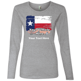 Texas Flag Personalized Women's Long Sleeve T-Shirt