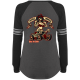 Troublemaker Hot Rod Ladies Game Long Sleeve V-Neck T-Shirt