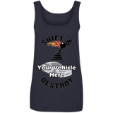 Shift And Destroy Personalized Women's Scoopneck Tank Top